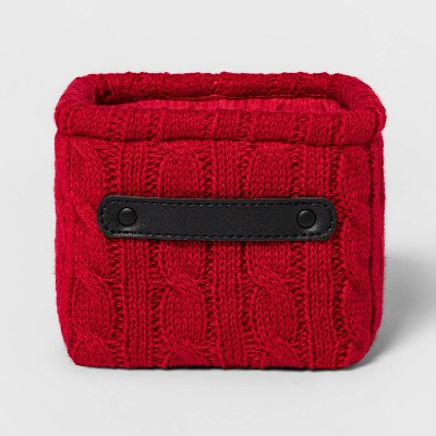 Knit Basket Red - Threshold™