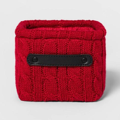 Knit Basket Red - Threshold™ - image 1 of 3