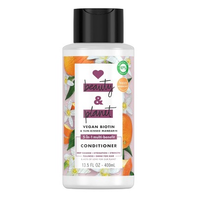 Love Beauty and Planet Vegan Biotin & Sun-Kissed Mandarin Conditioner - 13.5 fl oz