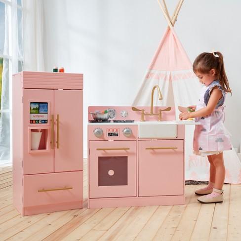 247 Kitchen.Teamson Kids Urban Luxury Play Kitchen Pink