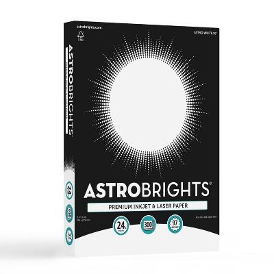 "300 Sheets Premium Inkjet & Laser Printer Paper 8.5""x11"" White - Astrobrights"