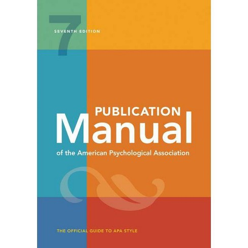 Publication Manual of the American Psychological Association - 7 Edition (Paperback) - image 1 of 1