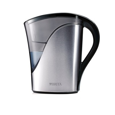 Brita 8 Cup Water Pitcher - Stainless Steel