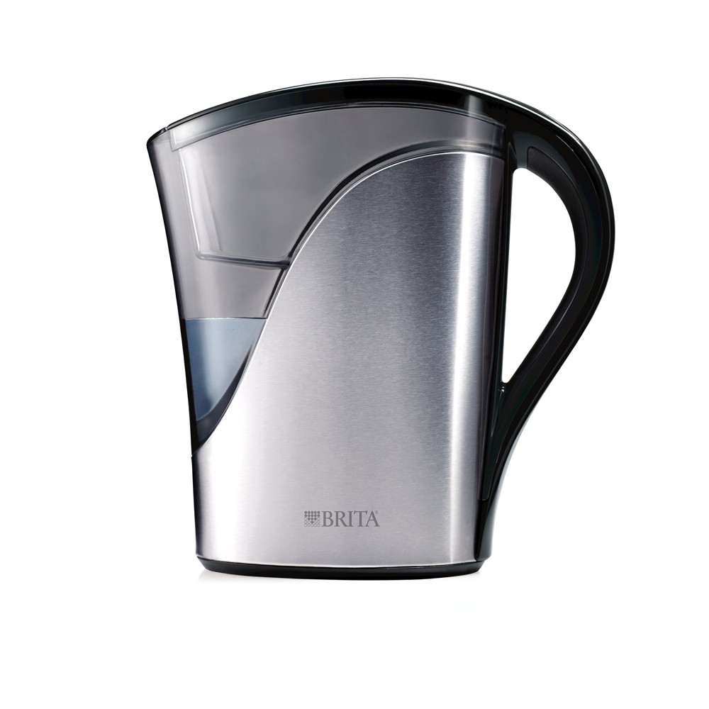 Image of Brita 8 Cup Water Pitcher - Stainless Steel