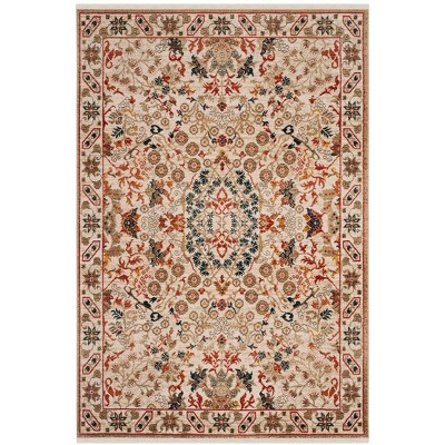 5'1 X7'5  Loomed Medallion Area Rug Ivory - Safavieh