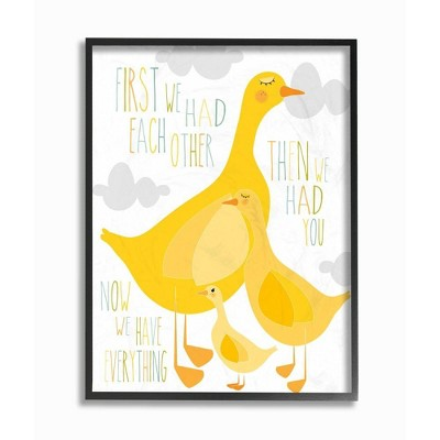 """11""""x1.5""""x14"""" First We Had Each Other Yellow Ducks Framed Giclee Texturized Art - Stupell Industries"""