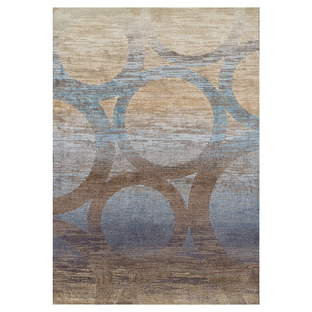 Chocolate Solid Woven Accent Rug 3'3