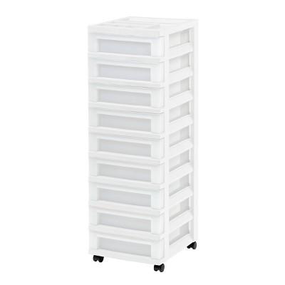IRIS 9 Drawer Storage Cart with Organizer Top