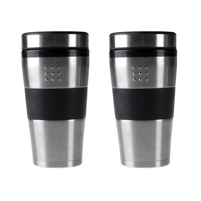 BergHOFF Orion 16Oz Stainless Steel Travel Mug, Set of 2