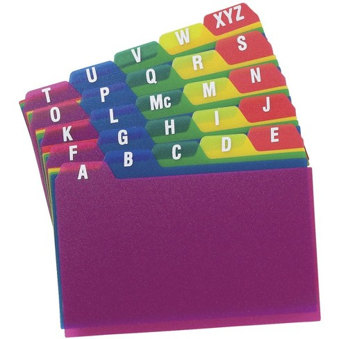 Oxford Index Card Guides, 4 x 6 Inches, Assorted Colors, set of 25 - image 1 of 1
