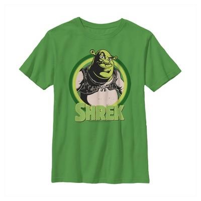 Boy's Shrek Vest Retro Circle T-Shirt