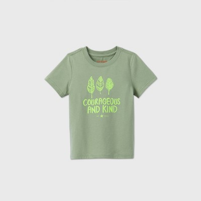 Toddler Kids' Short Sleeve 'Courageous And Kind' Graphic T-Shirt - Cat & Jack™ Green 12M