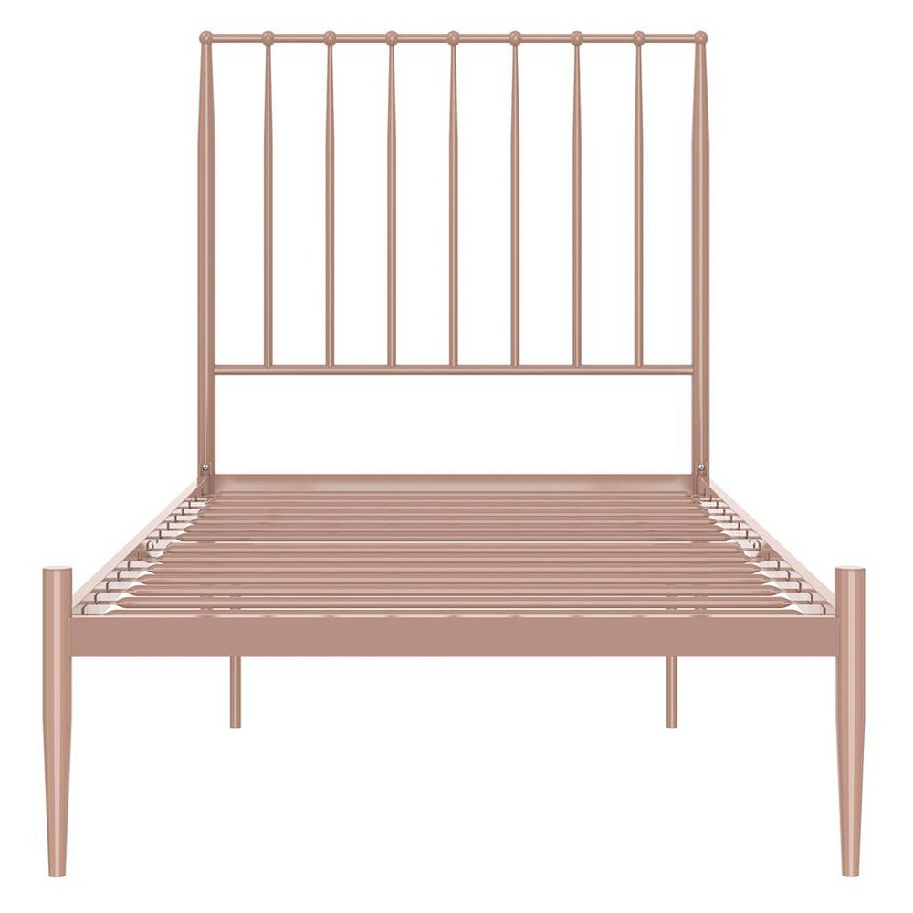 Giulia Modern Metal Bed Millennial Pink Twin - Dorel Home Products