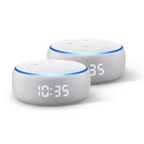 Amazon Echo Dot (3rd Gen) With Clock - 2 Pack - image 1 of 1