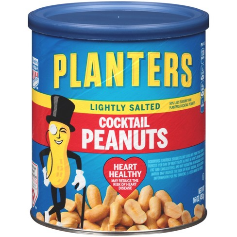Planters Lightly Salted Made With Sea Salt Cocktail Peanuts 16oz