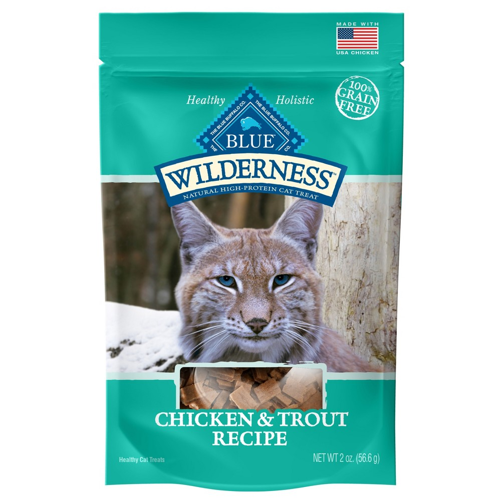 Blue Buffalo Wilderness 100% Grain-Free Chicken & Trout Recipe Cat Treats - 2oz