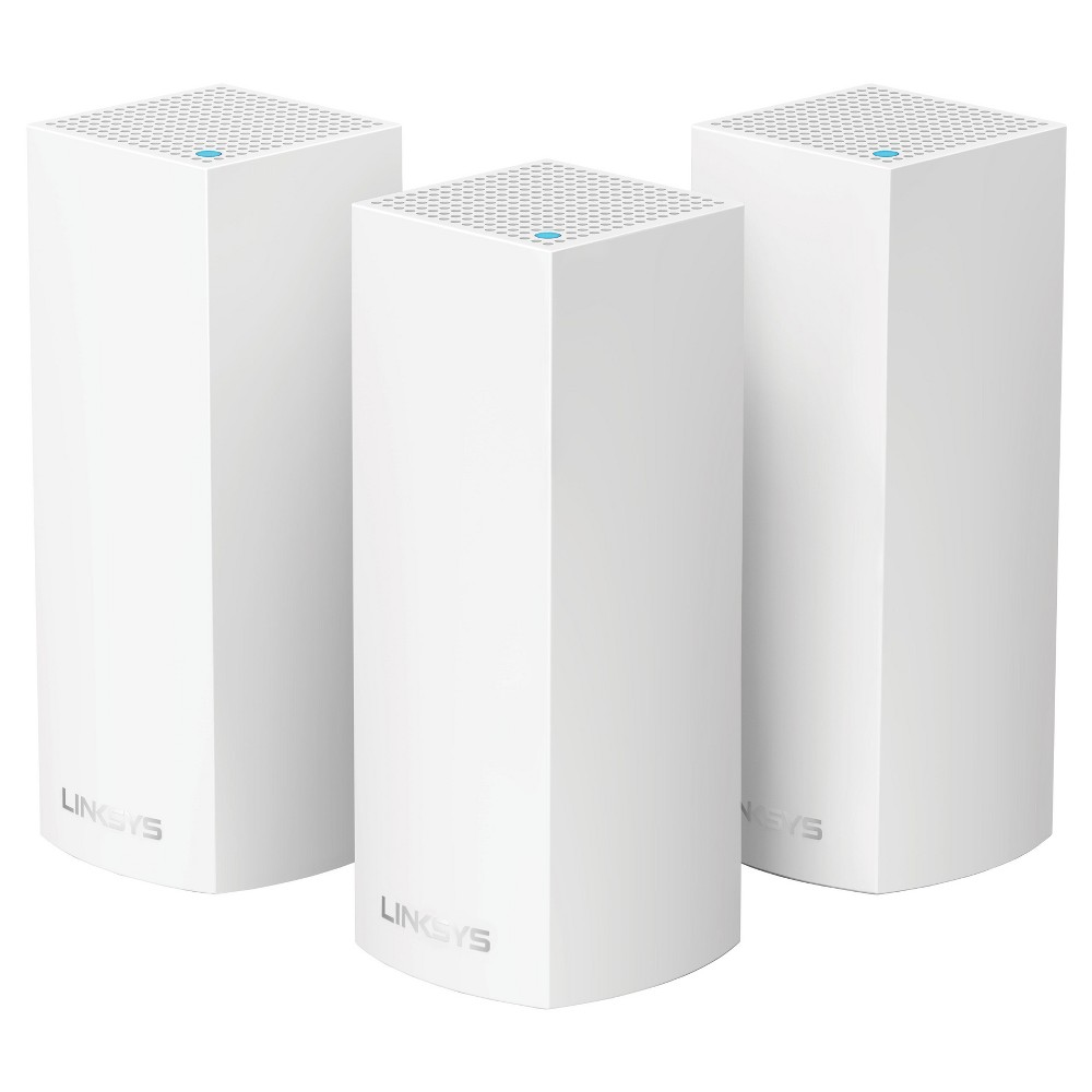 Linksys Velop AC6600 MU-Mimo Tri-Band Whole Home Wi-Fi Mesh with Amazon Alexa 3-pk - White