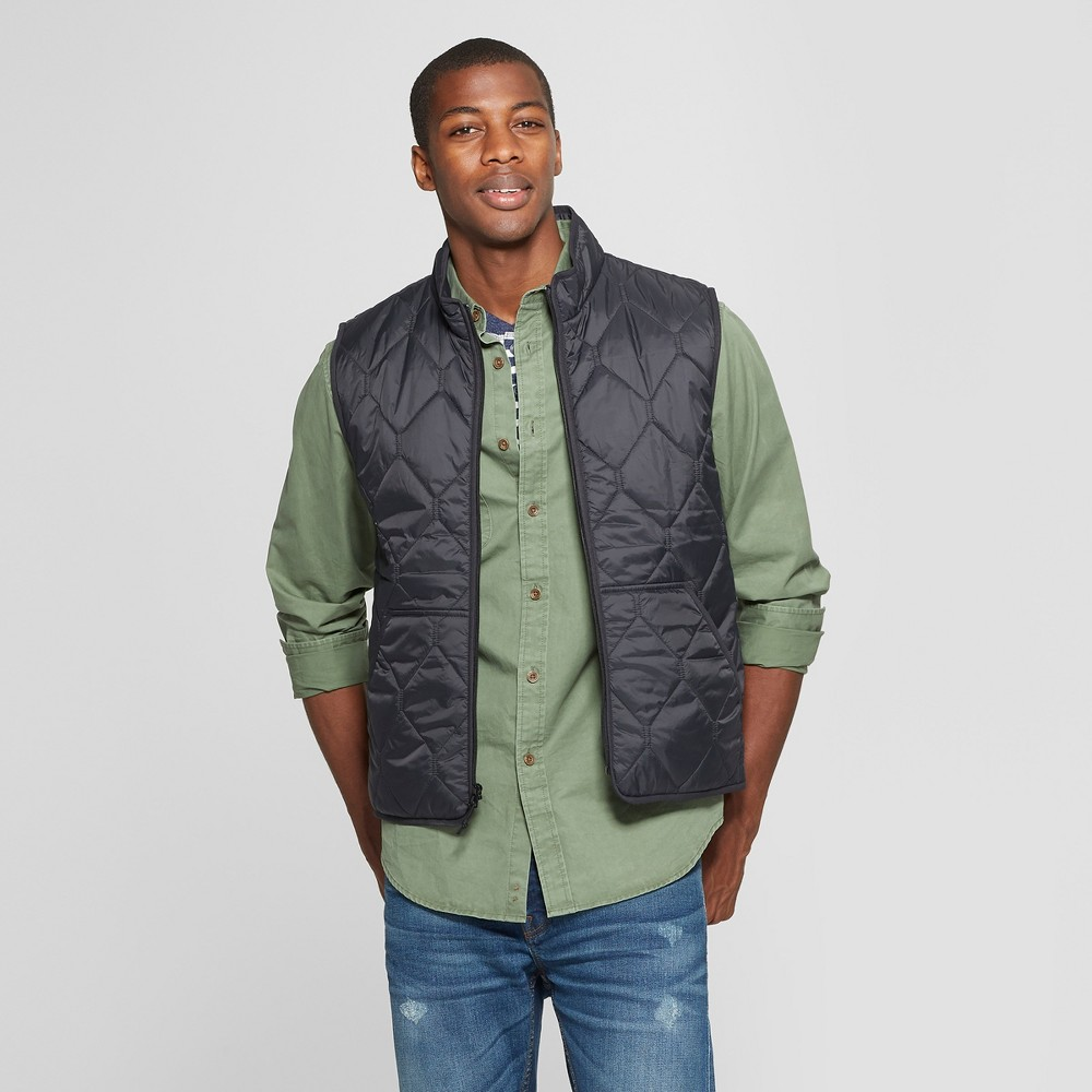 Men's Lightweight Quilted Vest - Goodfellow & Co Black M