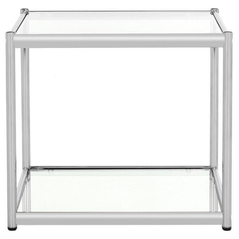 Lilias Glass End Table Chrome Safavieh Target
