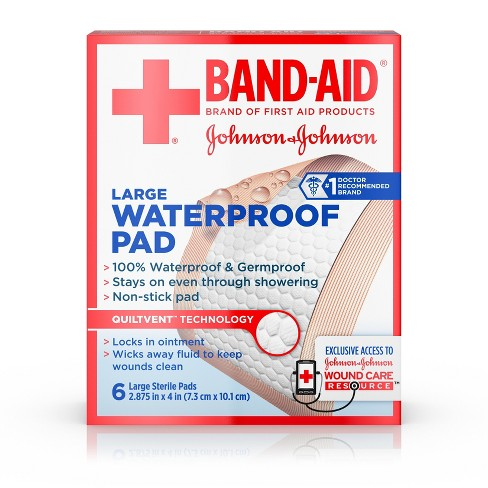 Johnson & Johnson Water Proof Pads - 6ct - image 1 of 8