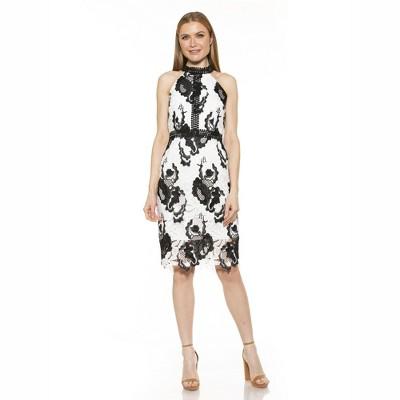 Alexia Admor Celine Halter Lace Dress