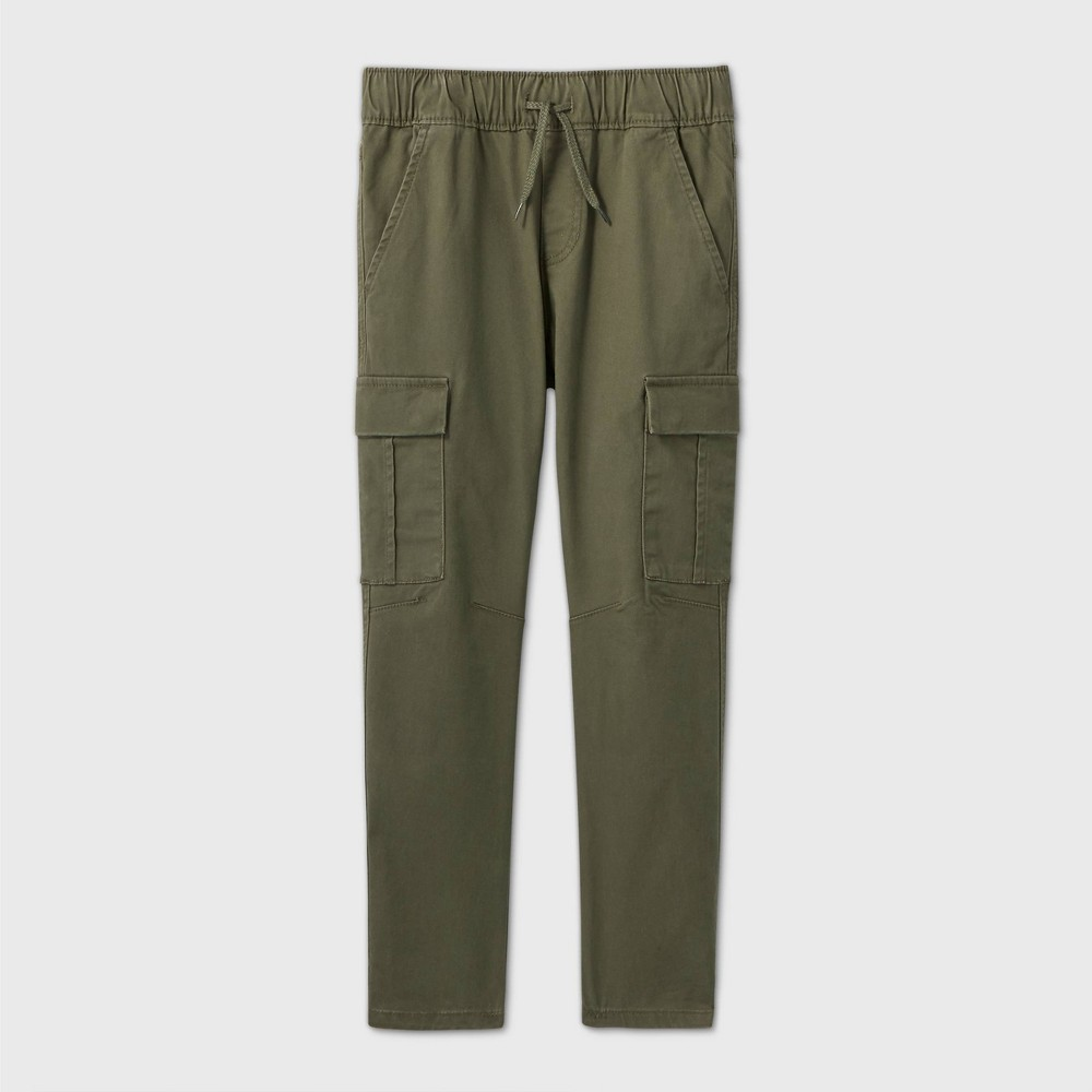Boys 39 Stretch Pull On Cargo Fit Jogger Pants Cat 38 Jack 8482 Olive 4