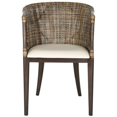 Dining Chair Wood/Brown/Black - Safavieh
