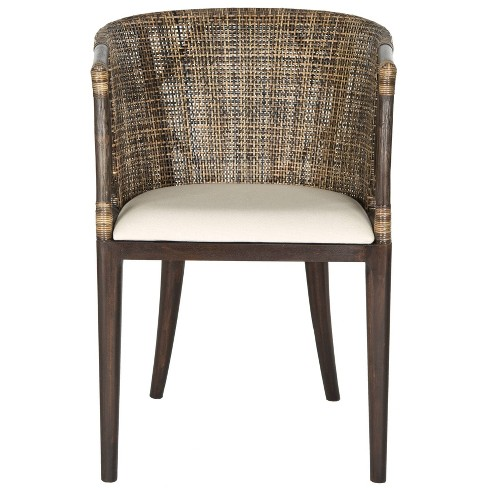 Dining Chair Wood/Brown/Black - Safavieh - image 1 of 4