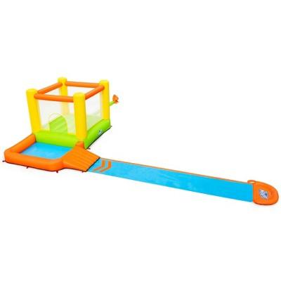 H2OGO! 53344E 22 x 10 x 5 Foot Splash & Dash Kids Inflatable Backyard Mega Bounce House Water Slide Park with Bouncer, Slide, & Kiddie Pool