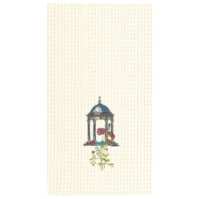 C&F Home Colonial Williamsburg Garden Folly Gazebo Waffle Weave Embroidered Cotton Kitchen Towel