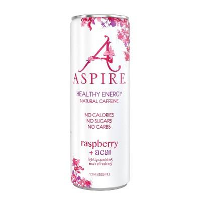 Aspire Raspberry + Acai Energy Drink - 12 fl oz Can
