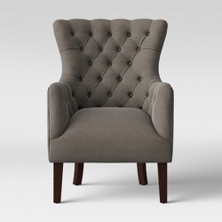 Quincy Tufted Fabric Swivel Chair Gray Abbyson Living Target