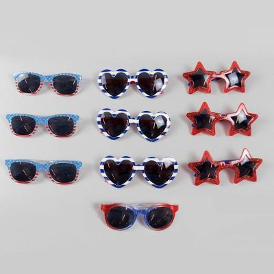 10ct Kids' Sunglasses Red/White/Blue - Bullseye's Playground™