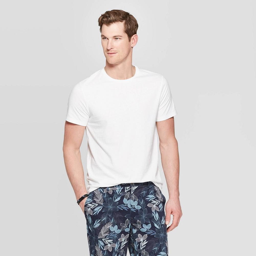Men's Standard Fit Short Sleeve Lyndale Crew T-Shirt - Goodfellow & Co White L