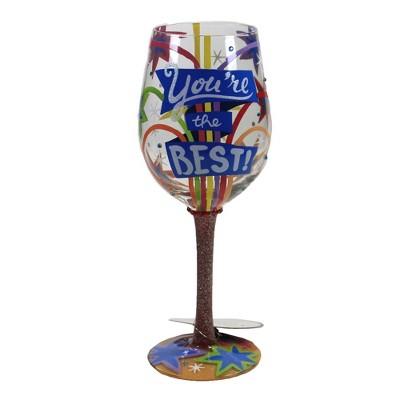 "Tabletop 9.0"" You're The Best Lolita Love My Wine Enesco  -  Drinkware"