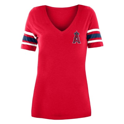 MLB Los Angeles Angels Women's Pitch Count V-Neck T-Shirt