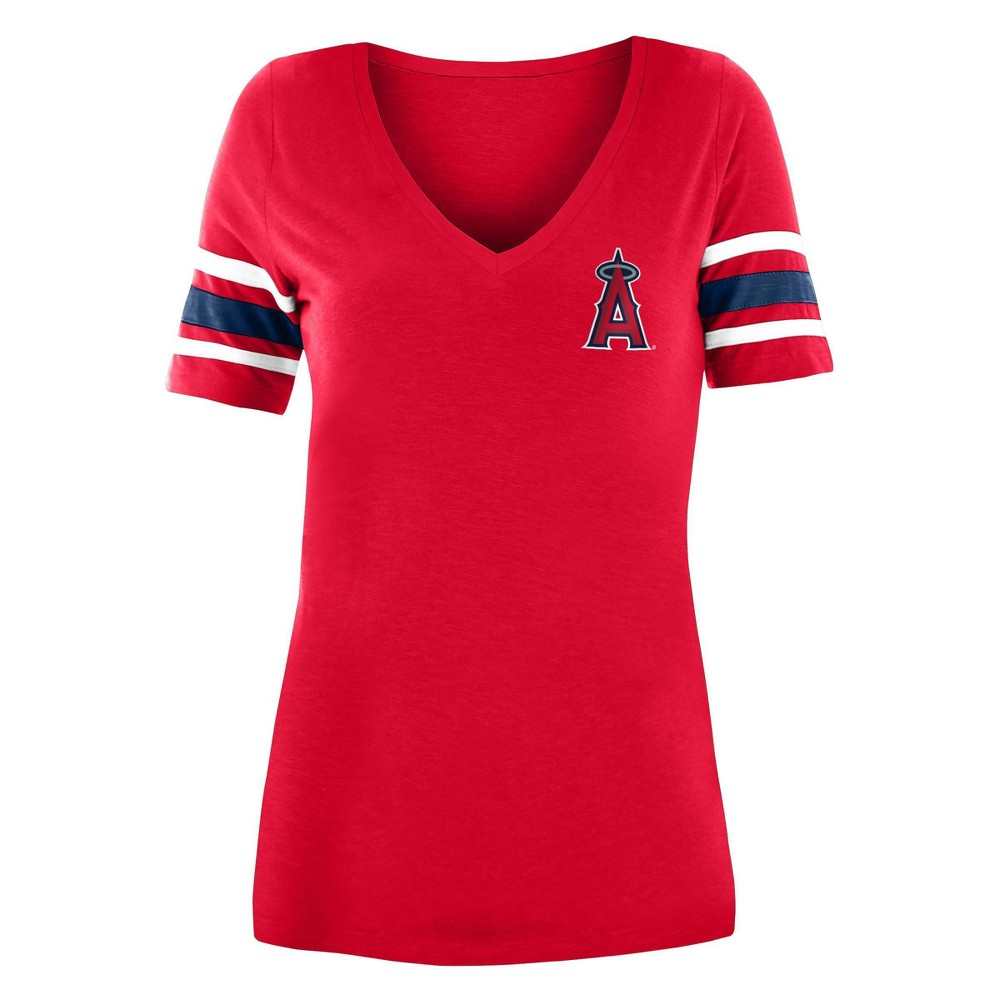 Mlb Los Angeles Angels Women 39 S Pitch Count V Neck T Shirt L