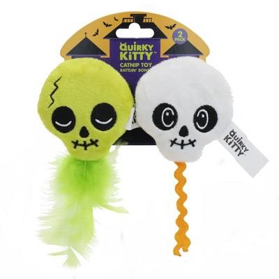 Halloween Quirky Kitty Rattlin' Bones Cat Toy