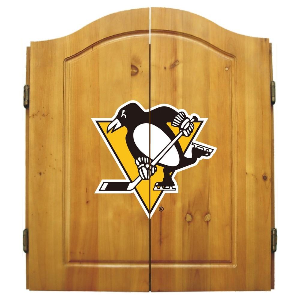 NHL Pittsburgh Penguins Dart Cabinet