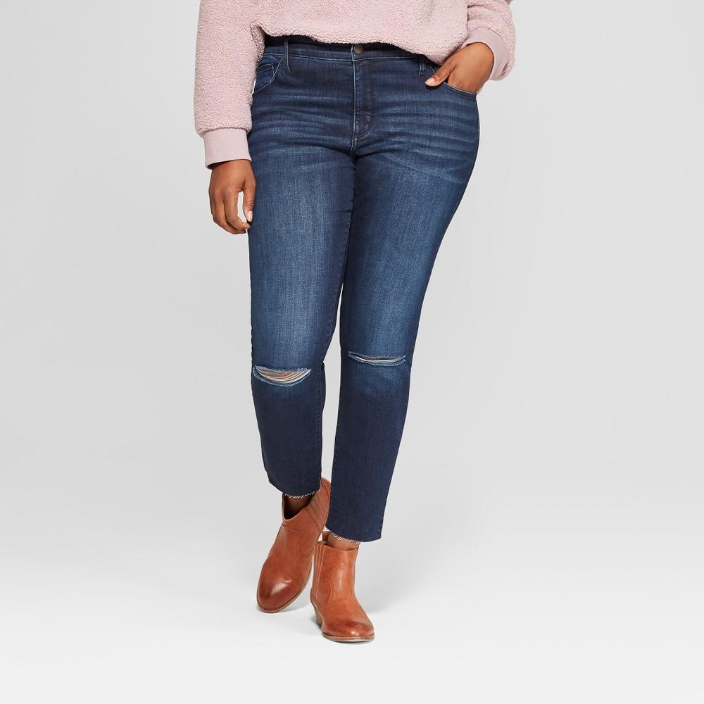 Women's Plus Size Skinny Jeans - Universal Thread Dark Wash 26W, Blue
