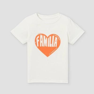 Latino Heritage Month Toddler Familia Short Sleeve T-Shirt - White