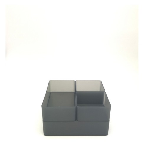 Plastic Drawer Organizer Dark Gray - Made By Design™ - image 1 of 1