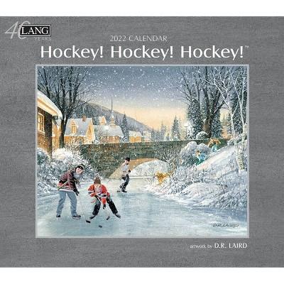 "2022 Wall Calendar 12 Month 13.4""x24"" Hockey Hockey Hockey - Lang"