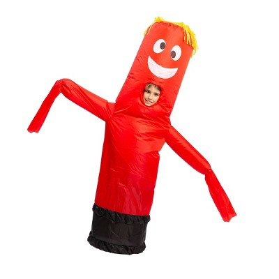 Kids' Red Tube Dancer Inflatable Halloween Costume One Size
