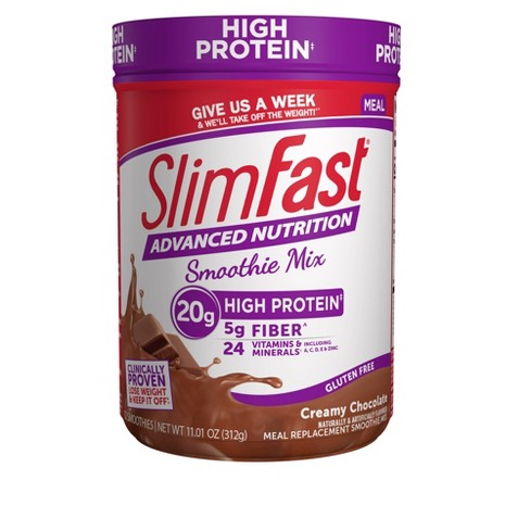SlimFast Advanced Nutrition High Protein Smoothie Mix - Creamy Chocolate - 11.4oz - image 1 of 3