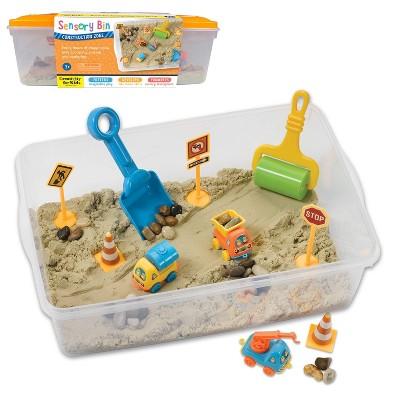 Construction Zone Sensory Bin - Creativity for Kids
