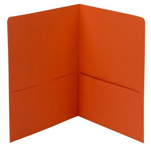 Smead Embossed Portfolio, Heavy-Duty Paper, Two-Pocket , Orange, pk of 25 - image 1 of 2
