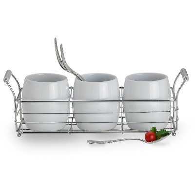 Towle 4pc Living Ceramic Caddy Set