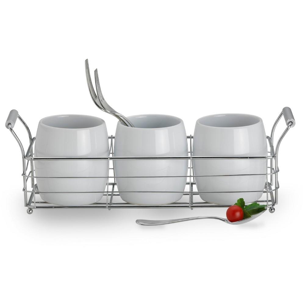 Towle 4pc Living Ceramic Caddy Set, White