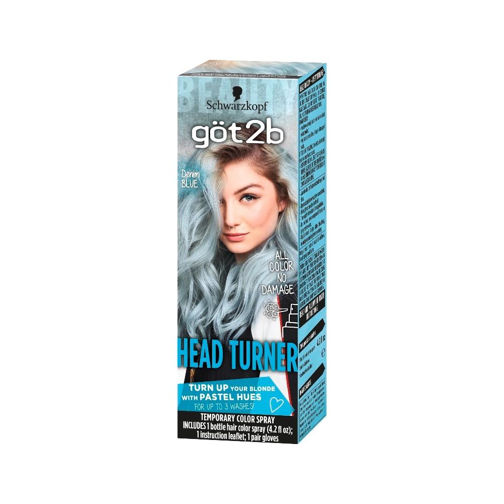 Image of Got2b Color Headturner Denim Blue Spray - 4.2 fl oz, Blue Blue